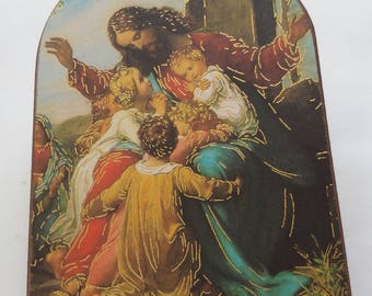 Religious picture painted on wood