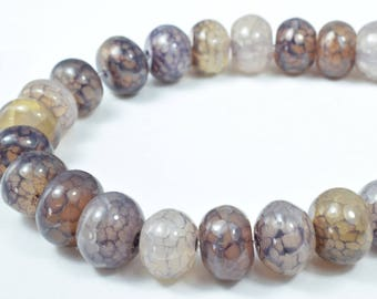15mm Grey Spider Agate Gemstone,Gems,Cabochons, Beads,Pearl Stone,Espeisse agnas,Agate, Araignae, Spider Agate, Gray agate