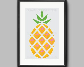 Pineapple & Flamingo Digital Prints - PineMingo - Stand tall and wear a crown and Flamingo design Prints - NOT 1 BUT 5 unique sizes Included