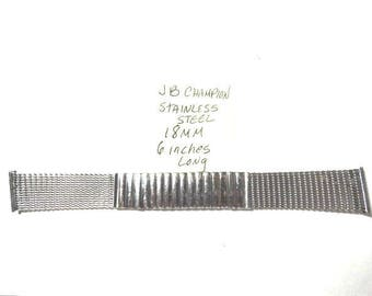1960s JB Champion Stainless Steel Expansion Band 18mm ends 6 inches long