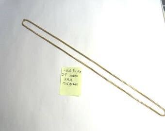 1960s Gold Filled Box Link Chain 24 inches 3mm 13.5 grams