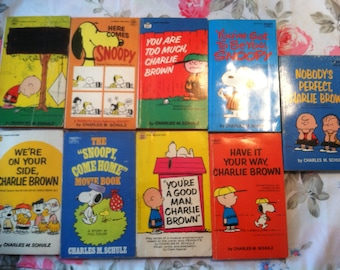 Charlie Brown, Snoopy, and Peanuts Vintage Comic Books (9 books) (Free Shipping!)