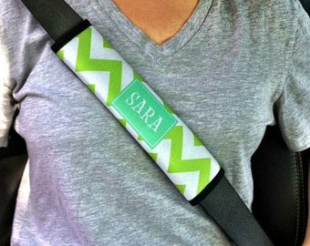 SALE Personalized Monogram Seatbelt Strap - Customize with Pattern, Color and Frame - Seat Belt Strap Cover Cushion Pad