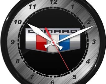 """12"""" Camaro Wall Clock Garage Work Shop Gift Father's Day Man Cave Rec Room"""
