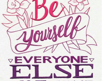 Be yourself everyone else is taken body Positive PMA different custom embroidered hoodie xs-4xl
