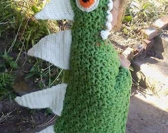 Crochet hand made Hooded dinosaur blanket