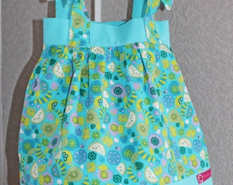 Dress and her bloomert assorted set summer child/baby 9 months. Turquoise.