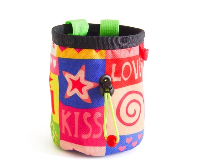 Funky Chalk Bag. Pop Art Chalk Bag Climbing. Chalk Bag for Rock Climbing and Bouldering. Cool and Best Chalk Bag for Climbing, M Size