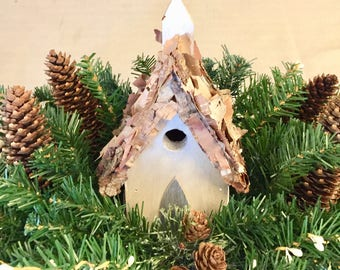 Christmas Birdhouse Wood Box Centerpieces Holiday Decor Home Decor Farmhouse Decor Tabletop Decor Gift Michelle Dornstreich