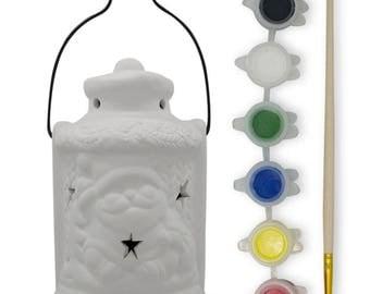 Paint your Own Santa's Lantern  with LED Light- DIY Craft Kit