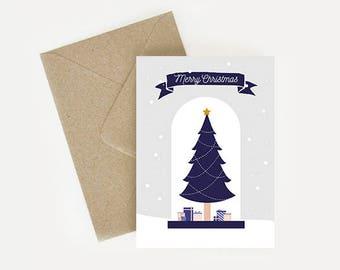 "Illustrative ""Merry Christmas"" Christmas card"