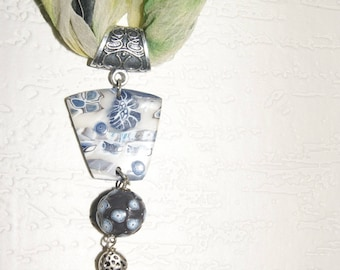 a beautiful natural blue scarf jewel