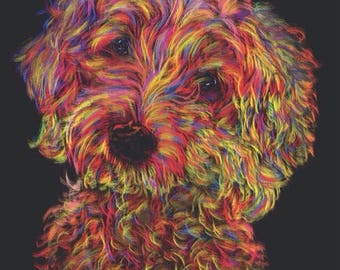 Colorful Custom Pet Portrait for Pet Owners and Pet Lovers. Digital painting of any animal, with an 8x10 digital download