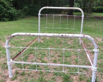 antique cast iron bed full size bed frame farmhouse decor shabby chic - Antique Iron Bed Frame