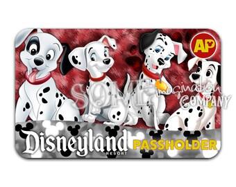 101 Dalmations Disneyland Passholder Sticker