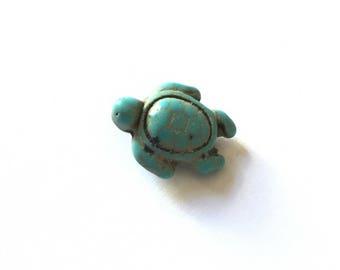 Blue howlite turtle