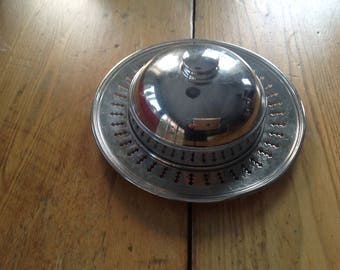 Stainless steel, made in Montreal at the beginning of the century butter dish