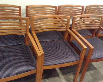 8 Vintage Ricchio Arm Chairs for Knoll