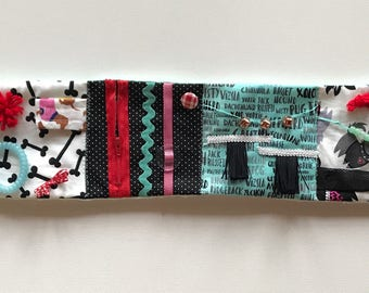 Fidget quilt,fidget strip, alzhimiers aid, activity blanket