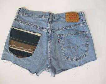 Reworked Vintage Levi Denim Cut Off Shorts