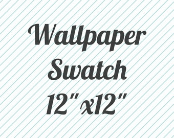 "Wallpaper Swatch 12""x12"" peel and stick wallpaper, wall decor, Swatch"