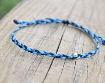 Mens ultra thin bracelets mens string bracelets mens blue bracelet mens friendship bracelets mens anklets