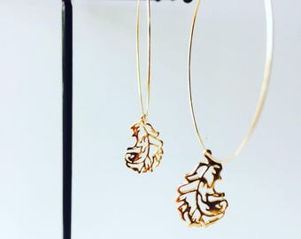 Earrings creole Appoline - original and unique! Gold filled 14 K Gold support