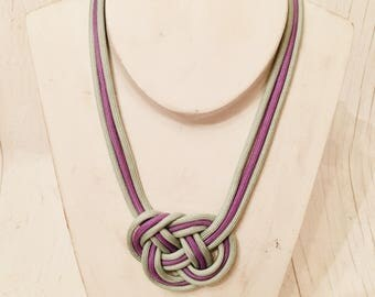Woven paracord necklace