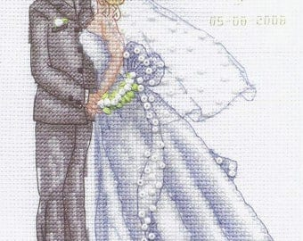 Counted Cross Stitch Kit Wedding kiss art. L-0982