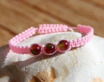 shamballa bracelet with tourmaline dyed beads