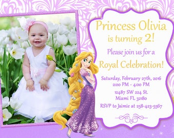 Rapunzel Tangled Invitation Birthday Rapunzel Party Tangled Party