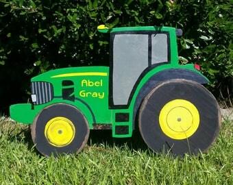Tractor, kids tractor wall art, tractor decoration, John Deere, man cave tractor