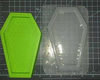 Coffin Plastic Mold, bath bomb mold, soap mold, candle mold, casket mold, large mold, bubble bar, lush bath bomb, resin mold, flexible mold
