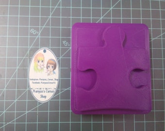 Puzzle Piece Plastic Mold or Silicone mold, bath bomb mold, soap mold, puzzle mold, resin mold, bar mold, autism awareness mold, chocolate
