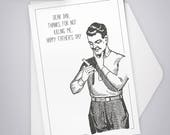 Father's Day Thank You Greeting Card / Dad, father, humor