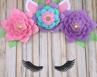 Unicorn flower set