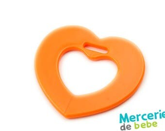 Orange - heart shaped decoration - item C19 - O5