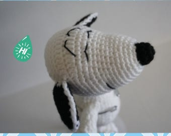 Crochet Snoopy-Handmade Peanut Snoopy Plush-Toddler Baby Stuffed Toys- The Peanuts