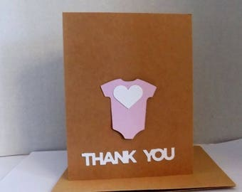 Baby Thank You Card, Welcome Baby Card,  Baby Shower Greeting Card, Thank You Baby Card, Baby Girl Card, Baby Shower Card, Baby Announcement