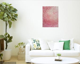 Original fluid painting on canvas - Rock Salt - Rose Quartz