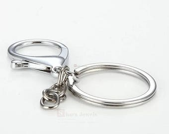5pcs Keychain, 35mm Lobster Keyring, 30mm Keyring,  Stainless Keychain, Keychain Accessory