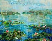 Custom for Sarah! Serene and Bright, Water Lily, Monet at Michigan, Michigan Lakes, Pond Life, Lotus flowers