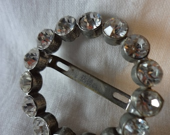 Rhinestone Scarf Clip Slide Through from the Mid-Century