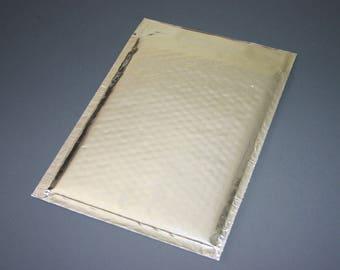 100 6x9 Silver Metallic Bubble Mailers Size 0 Self Sealing Shipping Envelopes