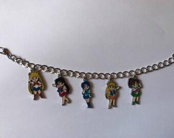 Sailor Moon Silver Charm Bracelet