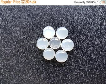 ON SALE White Moonstone 7MM, 6Mm Round Cabochons / Milky White Material With Sheen over the surface / Good Quality Gems