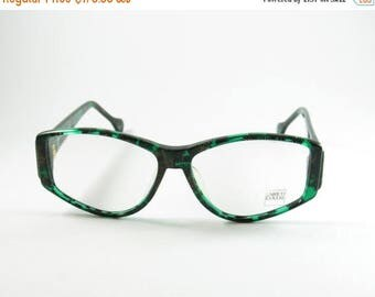 ON SALE Enrico Coveri Mod:107-410, Green-Gold Enrico Coveri Frame, Rare 70s Vintage Enrico Coveri Eyeglasses, NOS