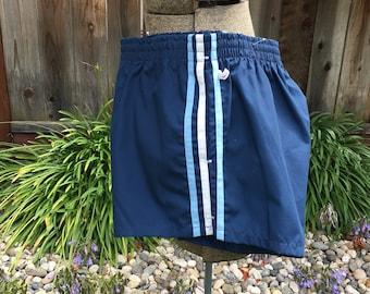 Men's Vintage Jantzen Blue Short Swim Trunks Size 36