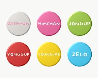 B.A.P Member Names Matoki Colors (Select Choice) Button KPOP