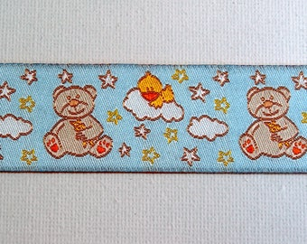 Baby bear jacquard ribbon 25 mm width